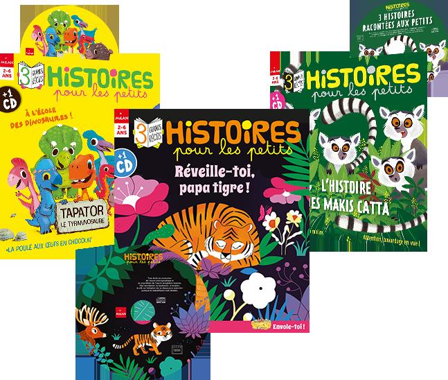 Les couvertures des derniers magazines Histoires pour les Petits