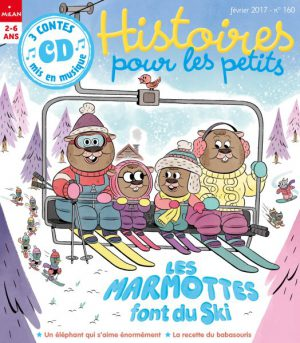 Les marmottes font du ski dans Histoires pour les petits magazine
