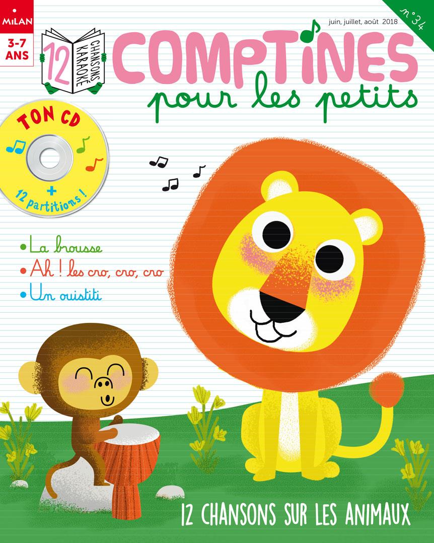 Comptines pour les petits : 12 chansons sur les animaux