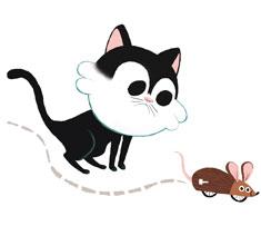 Un chaton sachant chasser