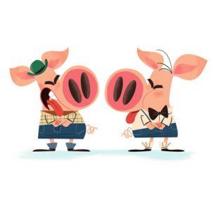 Les 2 petits cochons - Histoires pour les petits