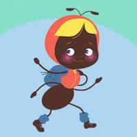 """La fourmi de l'histoire """"Le grand voyage de la fourmi"""" du magazine Histoires pour les petits"""