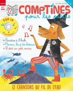 Magazine Comptines pour les petits : 12 chansons au fil de l'eau