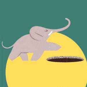 Éléphant est au fond du trou - Histoires pour les petits magazine